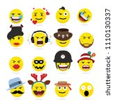 creative emoji emoticons  ...   Shutterstock .eps vector #1110130337