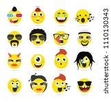 creative emoji emoticons ...   Shutterstock .eps vector #1110130343