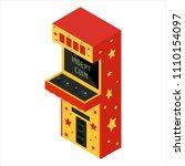 vector isometric retro arcade... | Shutterstock .eps vector #1110154097