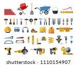 mason hand tools. big flat icon ... | Shutterstock .eps vector #1110154907