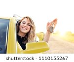 an attractive woman in the... | Shutterstock . vector #1110155267