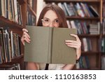 young attractive student... | Shutterstock . vector #1110163853