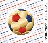 football gold ball in circle... | Shutterstock .eps vector #1110168623