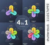 set of unusual infographic... | Shutterstock .eps vector #1110176993