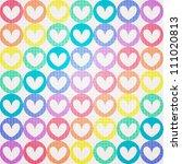 valentine seamless hearts... | Shutterstock .eps vector #111020813