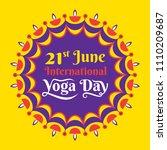 international yoga day... | Shutterstock .eps vector #1110209687