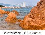 sea view of trestle bridge in... | Shutterstock . vector #1110230903