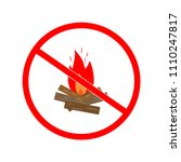 do not kindle fire. color sign... | Shutterstock .eps vector #1110247817