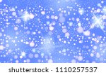 milky way galaxy abstract blue... | Shutterstock .eps vector #1110257537