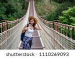 happy travel woman on vacation...   Shutterstock . vector #1110269093