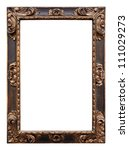 Vintage wooden frame isolated on white background - stock photo