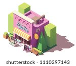 vector isometric ice cream... | Shutterstock .eps vector #1110297143