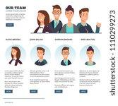 creative business people ... | Shutterstock .eps vector #1110299273