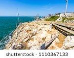 trabucco of mimi near peschici  ...   Shutterstock . vector #1110367133