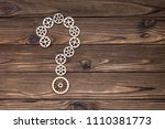 gears made of wood  question... | Shutterstock . vector #1110381773