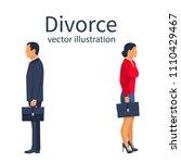 divorce concept. breakup...   Shutterstock .eps vector #1110429467
