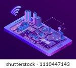 vector 3d isometric smart city... | Shutterstock .eps vector #1110447143