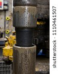 drilling pipe. turned the drill ... | Shutterstock . vector #1110461507