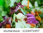 fresh mixed salad with... | Shutterstock . vector #1110472457