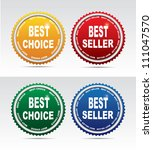 Labels- bestseller and best choice. Vector - stock vector