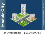 city isometric of urban... | Shutterstock .eps vector #1110489767