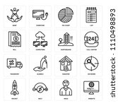 set of 16 icons such as website ... | Shutterstock .eps vector #1110498893