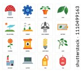 set of 16 icons such as tag ...