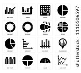 set of 16 icons such as line...