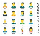 set of 16 icons such as clerk ... | Shutterstock .eps vector #1110510563