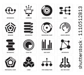 set of 16 icons such as abc...