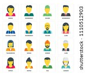 set of 16 icons such as surgeon ... | Shutterstock .eps vector #1110512903