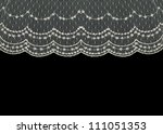 beautiful vintage floral lace... | Shutterstock . vector #111051353