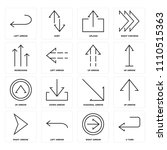 set of 16 icons such as u turn  ...