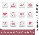 professional web icons on white ... | Shutterstock .eps vector #111052343