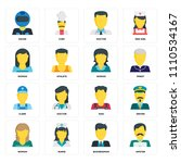 set of 16 icons such as hipster ...