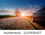 car on asphalt road in summer | Shutterstock . vector #1110536327