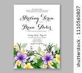 hibiscus floral wedding...   Shutterstock .eps vector #1110560807