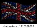 waving uk official flag on a...   Shutterstock .eps vector #1110570023