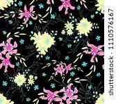 small flowers. seamless pattern ...   Shutterstock .eps vector #1110576167