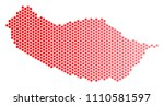 red round spot portugal madeira ...   Shutterstock .eps vector #1110581597