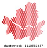red round spot seoul city map....   Shutterstock .eps vector #1110581657