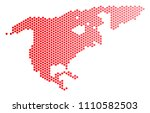 red round spot north america...   Shutterstock .eps vector #1110582503