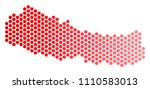 red dotted nepal map....   Shutterstock .eps vector #1110583013