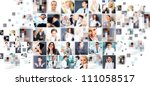 collection of different people... | Shutterstock . vector #111058517