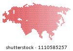 red dotted eurasia map.... | Shutterstock .eps vector #1110585257