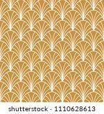 abstract golden art deco... | Shutterstock .eps vector #1110628613