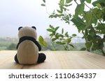 black and white panda doll...   Shutterstock . vector #1110634337