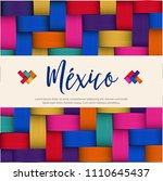 traditional colorful mexican... | Shutterstock .eps vector #1110645437