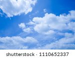 blue sky and cloud beautiful in ... | Shutterstock . vector #1110652337