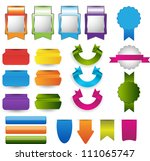 web elements collection | Shutterstock .eps vector #111065747